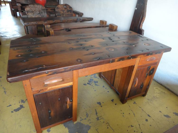 老船木电脑桌 实木办公桌写字台 原生态古典家具 田园仿古老桌台