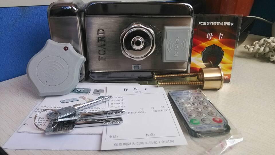 ic卡刷卡一体锁 fcard智能防盗刷卡锁 出租屋进出刷卡