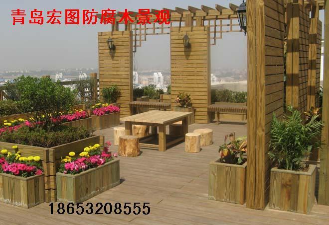 防腐木廊架,葡萄架设计安装,青岛防腐木葡萄架制作