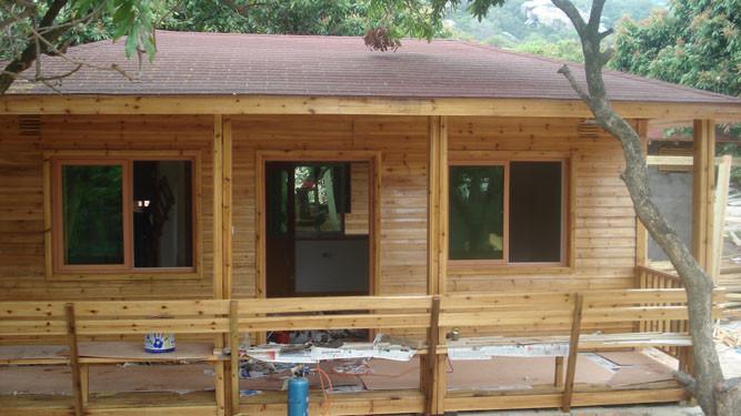 临沂防腐木木屋木房子,防腐木活动房设计施工