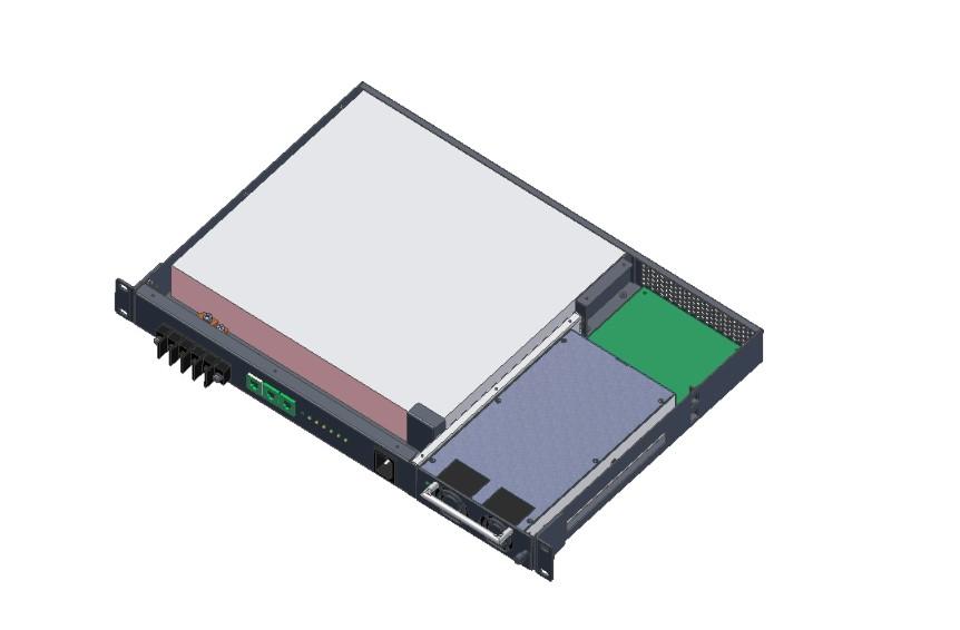 1U通信电源带铁锂电池