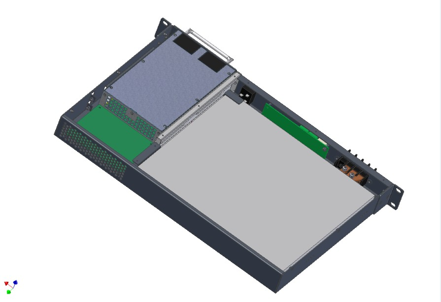通信电源1U内置铁锂电池