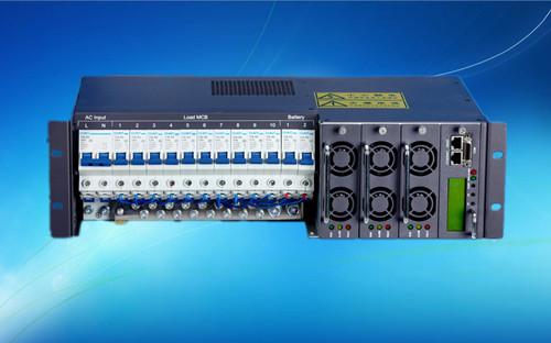 3U嵌入式通信电源48V90A,标准10路输出