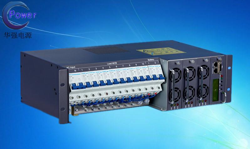 华强电源3U机架通信电源嵌入式系统