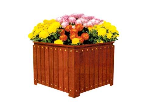供应唐山木质花盆,防腐木花盆厂家,组合花盆定做,洁美环卫