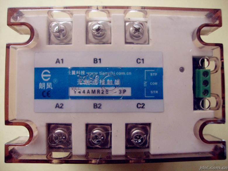 36v行车正反转接触器接线实图