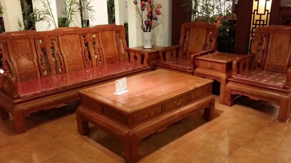 刺猬紫檀富贵花开沙发产品图信息来自广州木缘居家具
