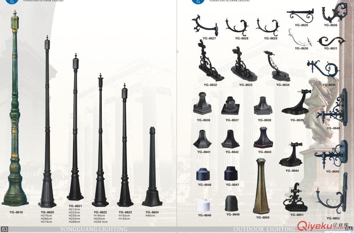 长期供应毛坯杆.毛坯配件.花支各类欧式灯具