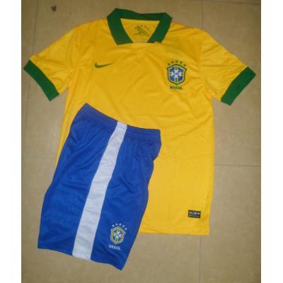 13-14赛季儿童球衣 巴西主场黄色