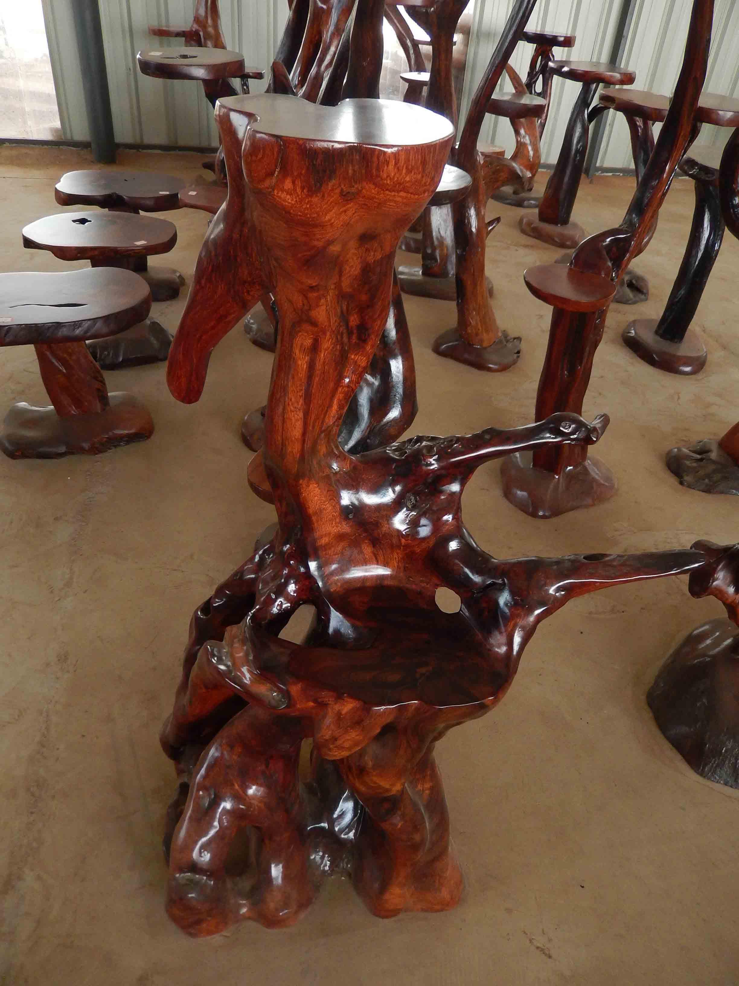 红木花架图片 红木花架产品图片由版纳广信根雕厂公司