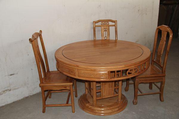 厂家直销质量保证批发实木家具实木餐桌圆台