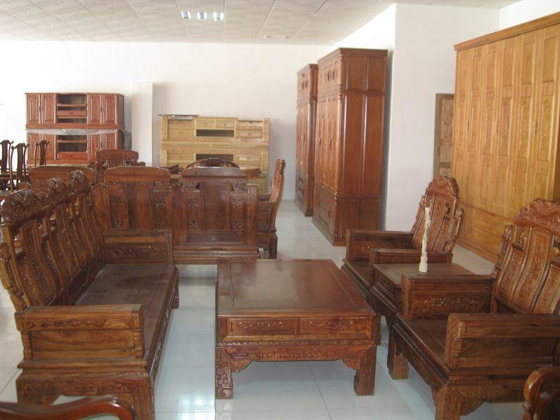 仿古套装实木沙发