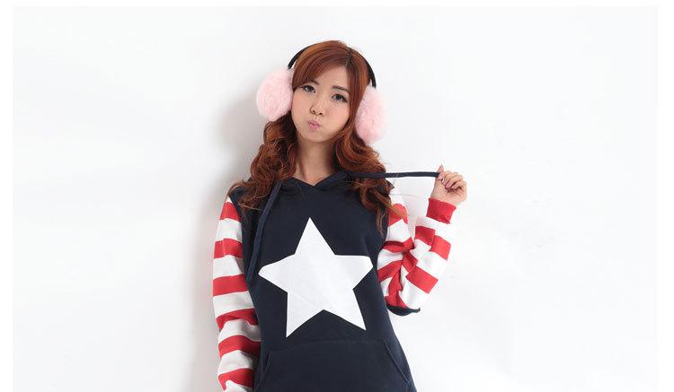 2014春季新款日韩卫衣女士中长款连帽加厚女式卫衣批发厂家直销供应