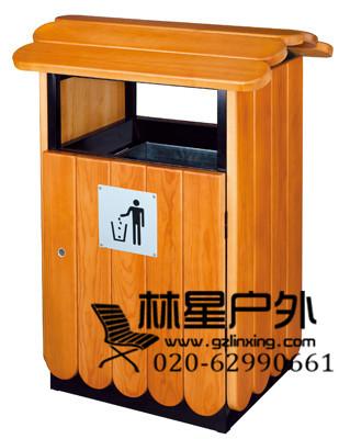 广州番禺厂家供应防腐木垃圾桶