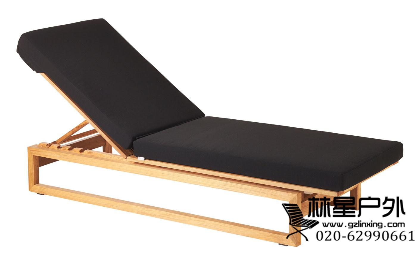 实木靠背沙滩椅,防腐耐用休闲躺椅2023