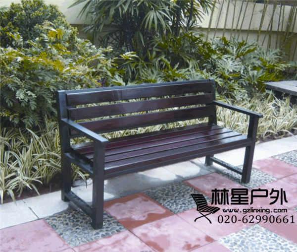 户外园林工程配套防腐木公园椅,公园靠背椅扶手长椅4032转发分享