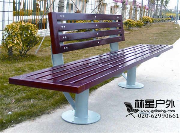 户外休闲靠背公园长椅,园林工程配套铸铁椅脚 防腐木公园椅4041(图)