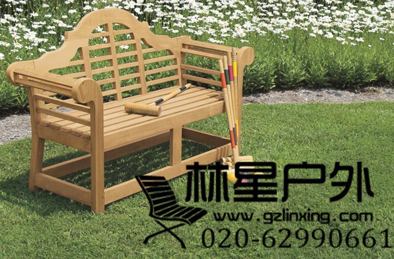 户外园林工程配套防腐木公园椅,公园靠背椅长椅4003