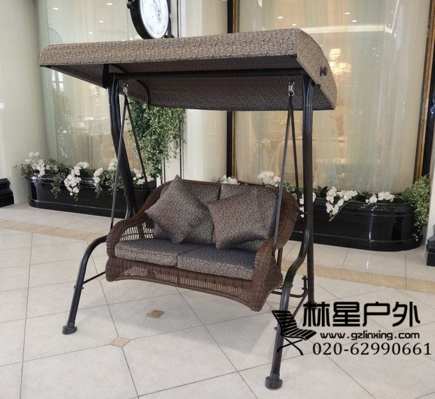 花园庭院凉棚秋千椅,欧美风格双人秋千6013