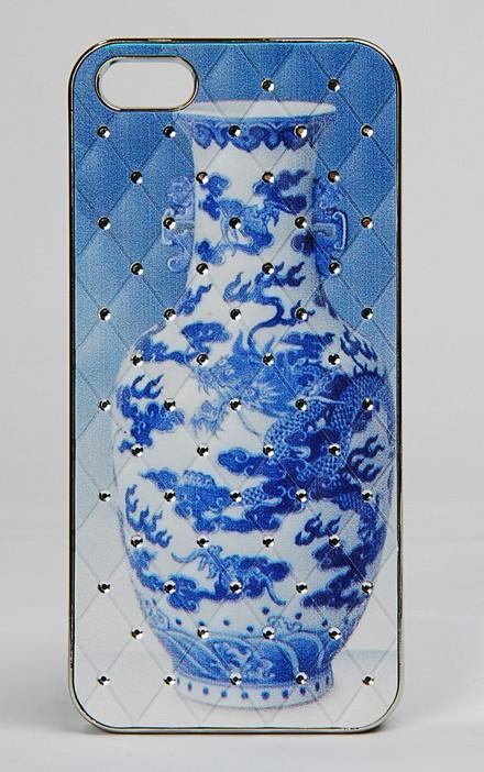 广州手机壳加工 iphone 青花瓷浮雕保护壳