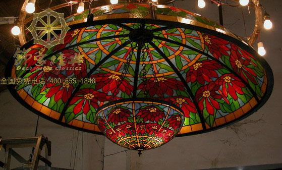 室内穹顶 中式彩窗图片 室内穹顶 中式彩窗产品图片