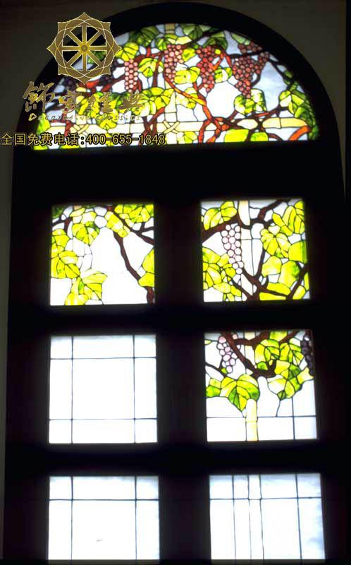 窗屏系列|彩绘玻璃门窗图片由饰家经典(中国东莞)有限公司提供,窗屏系