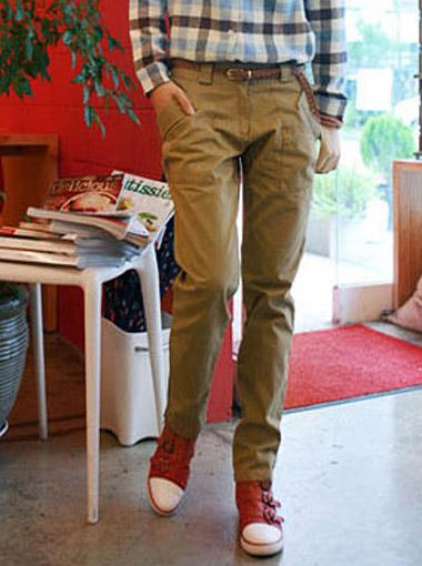 时尚韩版女装裤子批发 超帅气学生款休闲长裤批发 窄脚裤批发