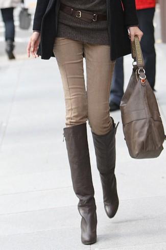 休闲裤女裤冬季打底裤显瘦条绒小脚修身铅笔裤长靴裤