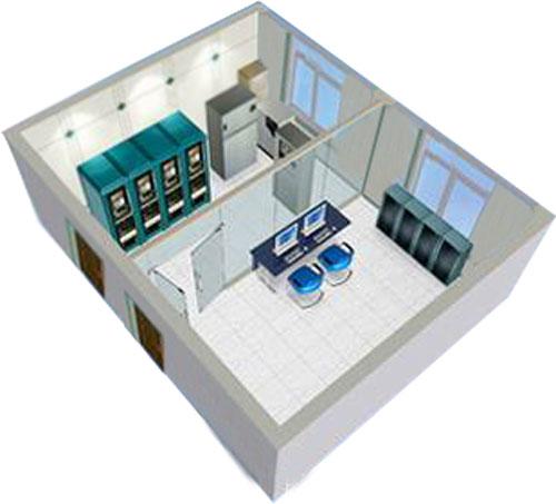 抚顺新钢铁机房装修工…; 机房装修效果图;