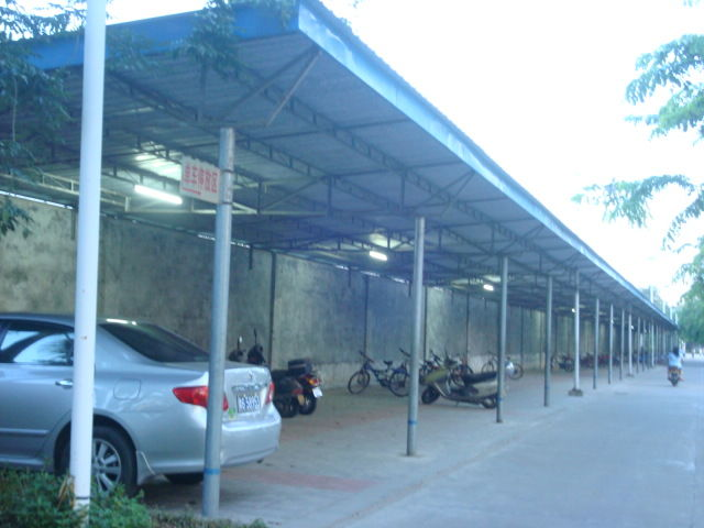 钢结构停车棚搭建 (图)