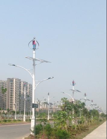 垂直轴风力发电机站 智能调光控制器 太阳能led路灯工程 大功率风机