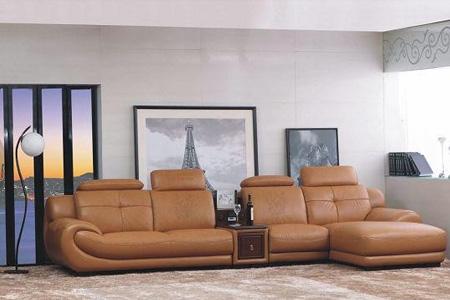 双虎欧式真皮1十2十4沙发图片