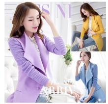 2014潮韩版长袖呢子大衣秋季女装中长款薄毛呢外套