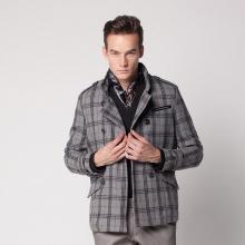 度比古卡男士短款风衣外套男 韩版男外套 修身休闲大衣