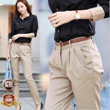 韩版休闲裤 OL显瘦女装修身长裤