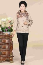 新款妈妈装 时尚中年女装外套秋冬中老年服装老年人卫衣