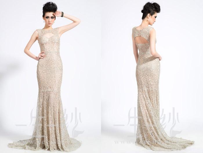 婚纱礼服:神秘银黑双色亮片礼服