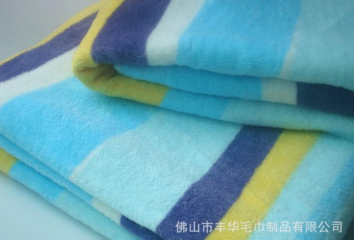 活性印刷彩條浴巾