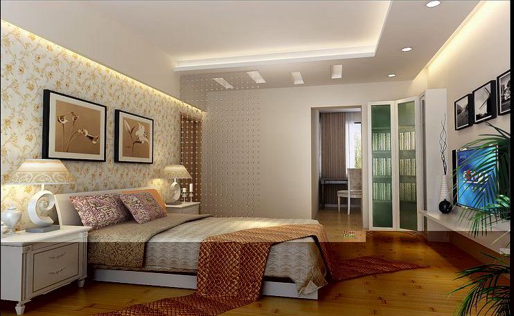 卧室墙柜装修效果图