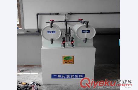 或其他信号自动控制发生器的运行,确保接触消毒池中二氧化氯的浓度