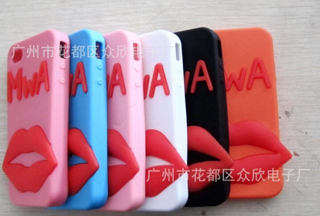 iphon4梦露唇硅胶手机套 保护套 防摔 苹果4 新款 潮流