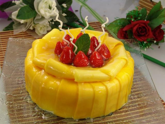 芒果蛋糕(图)
