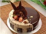 咖啡奶油巧克力蛋糕:巧克力蛋糕胚夹核桃夹心抹咖啡奶油