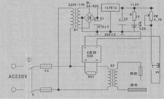 【固态继电器制作电焊机空载节电装置】固态继电器电