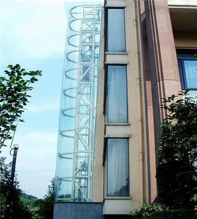 老居民区 加装观光电梯钢结构/玻璃幕墙,图片尺寸:1434×1767,来自