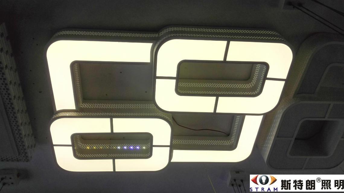 智能遥控吸顶灯LED节能方形客厅灯卧室灯简约餐厅灯别墅客厅