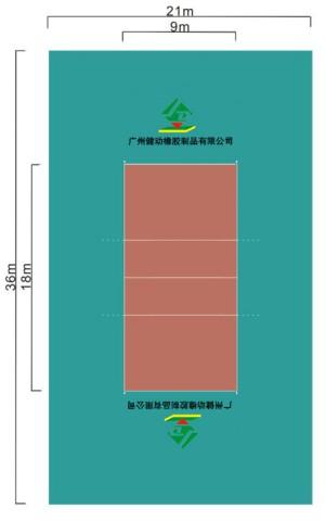 排球场平面�_标准排球场尺寸及其说明