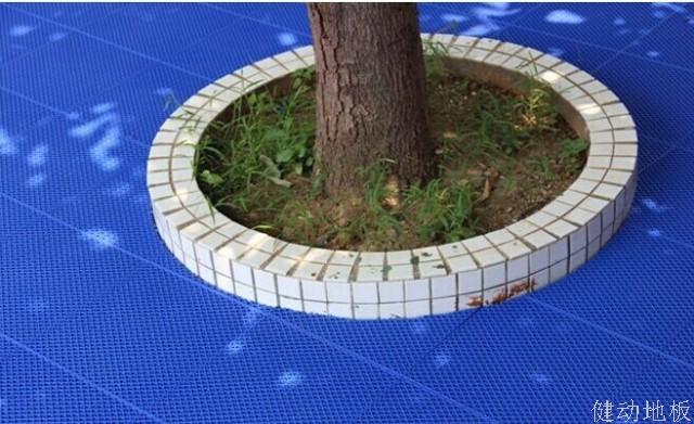 拼装地板树池施工图