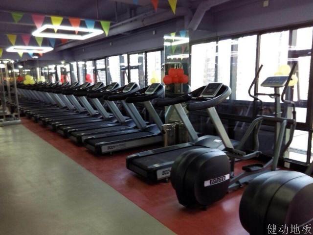 健身房器材区PVC地板