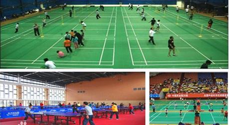 广州健动--羽毛球塑胶运动地板